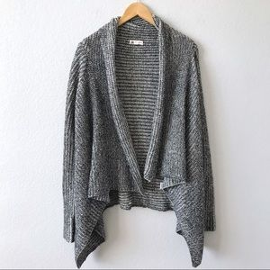 COTTON CANDY Tan Black Marled Knit LS Cardigan S